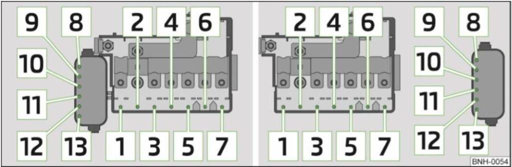 Схема блока под капотом. Вариант 1