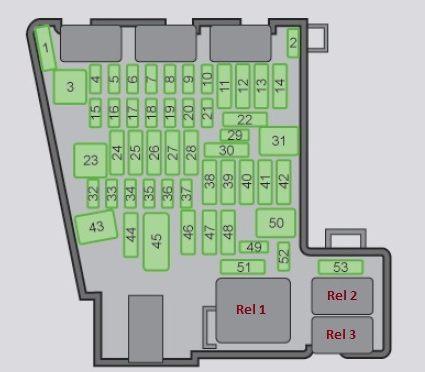 схема блока в салоне а7