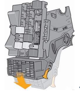 Схема блока с реле в салоне