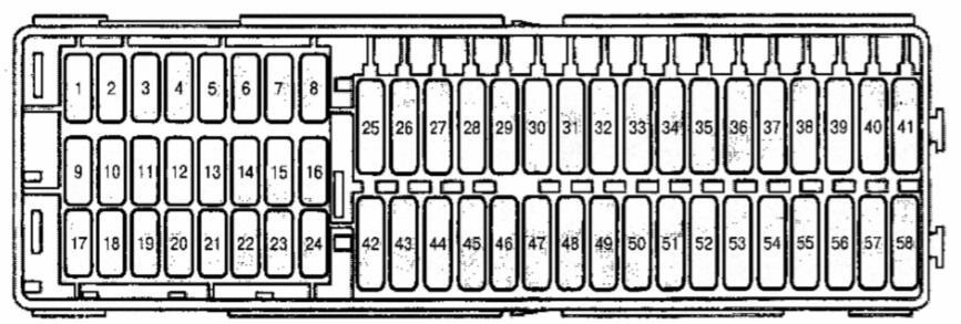 Caddy схема блока в салоне