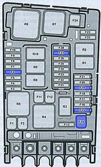 Схема блока под капотом гольф 7