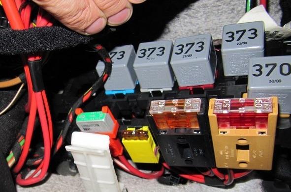 дополнительный 8 контактный блок реле пассат б5