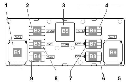 Схема блока реле 1