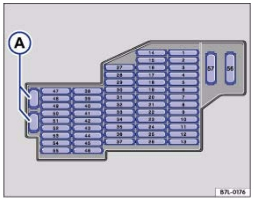 Схема блока справа 1 в туарег
