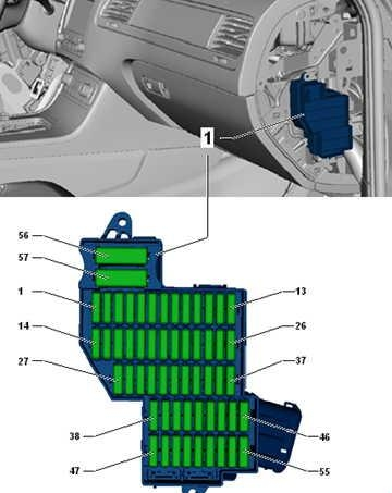 Схема блока справа 2 фольксваген туарег