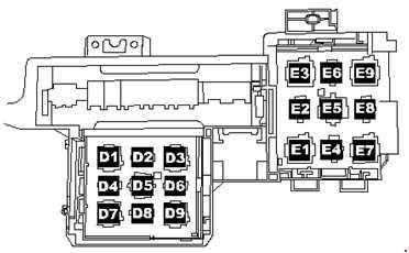 схема блока реле туарег 1