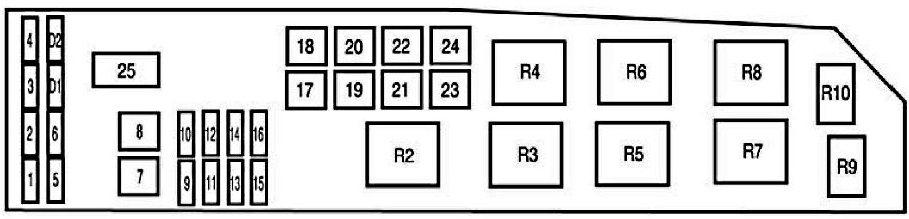 Схема блока под капотом - Вариант 2