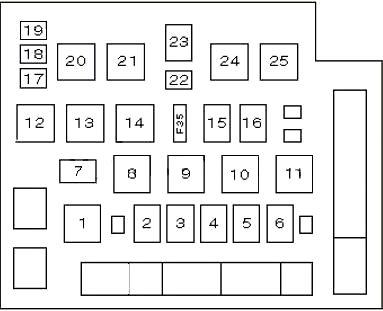Схема реле форд эскорт- Вариант 1