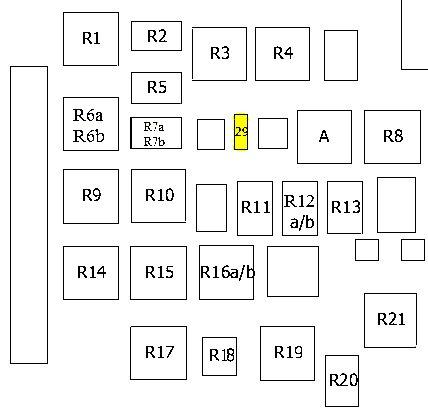 Схема реле форд эскорт - Вариант 2