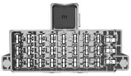 Форд Фиеста 7 Схема блока в салоне 1