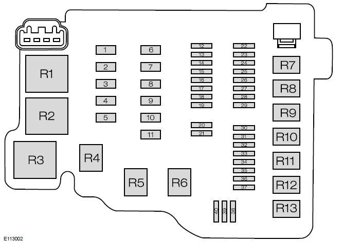 Схема блока под капотом форд фиеста 7