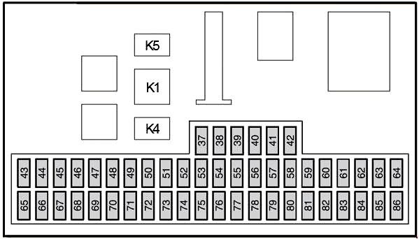 Схема блока под капотом вариант 1