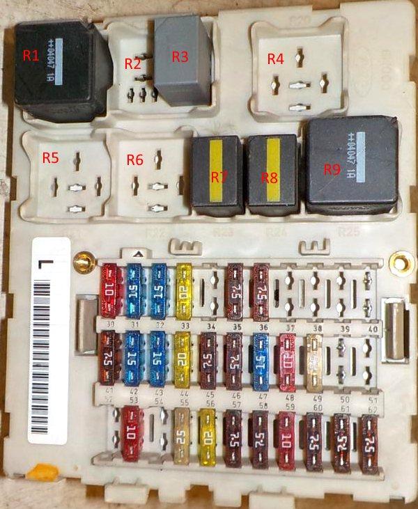 Схема блока предохранителей в салоне форд фокус 1
