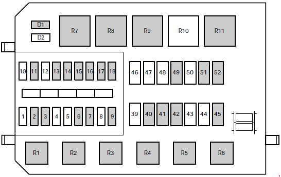 Схема блока под капотом вариант 2