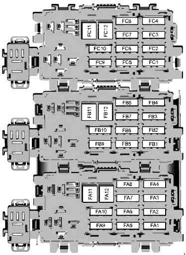 Схема блока в багажнике вариант 1