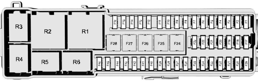 схема блока в багажнике ford focus 3