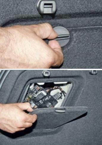 Блок в багажнике