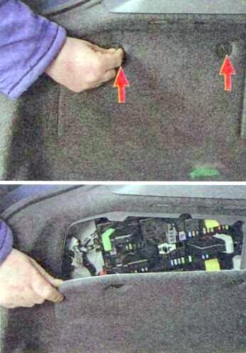 Доступ к блоку в багажнике