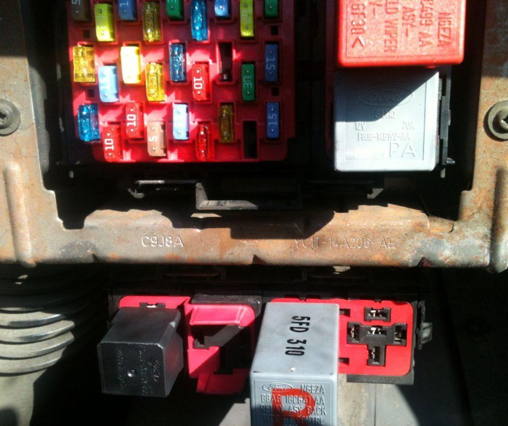 Фото блока в салоне Форд Транзит 6