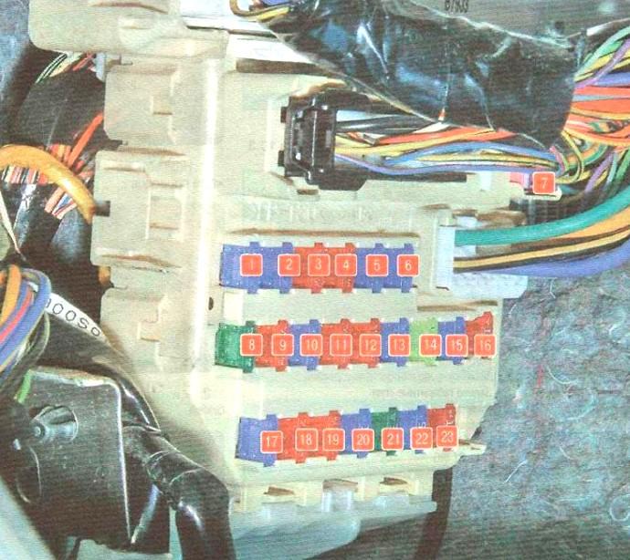 Фото схема блока в салоне сузуки сх4