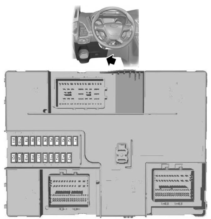 Схема блок в салоне форд транзит 8 1-2