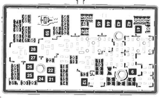Схема блока под капотом opel insignia