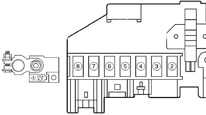 Схема дополнительного блока под капотом