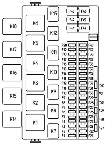 Схема блока предохранителей Лада