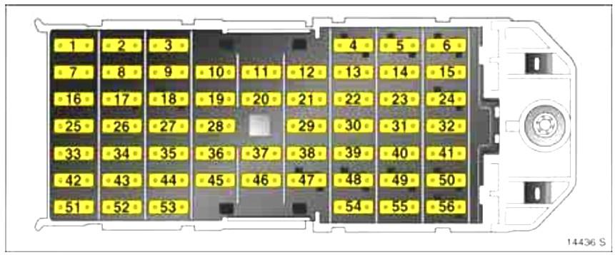 Схема блока предохранителей в салоне опель мерива а