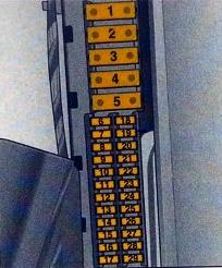 Схема блока в багажнике опель вектра с
