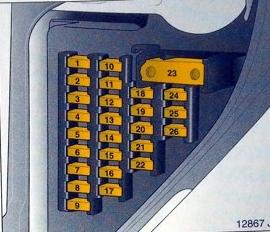 Схема блока в салоне опель вектра с