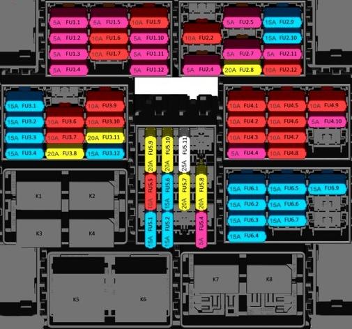 Схема блока в салоне камаз 5490