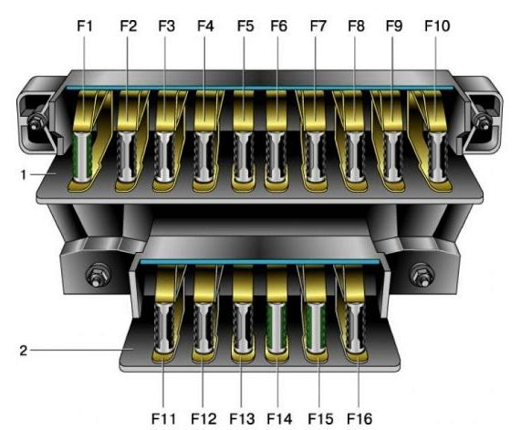Схема основного блока предохранителей нива 2121