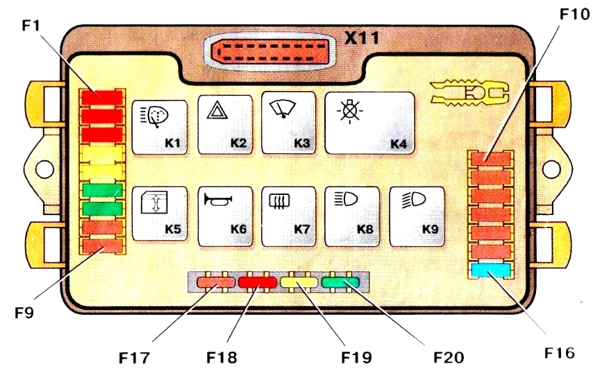 Схема вариант 1 ВАЗ 2113 2114 2115