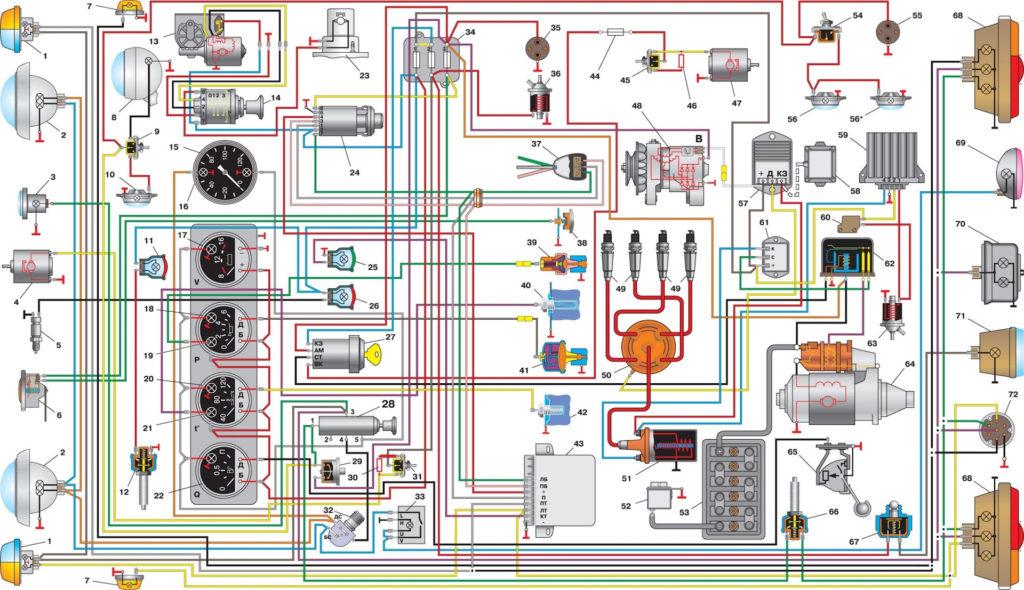 электросхема буханки