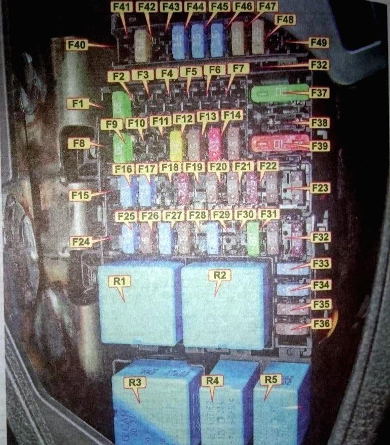 Схема блока в салоне lada xray