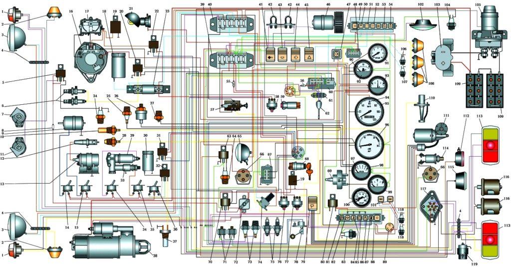 Электросхема урал 4320