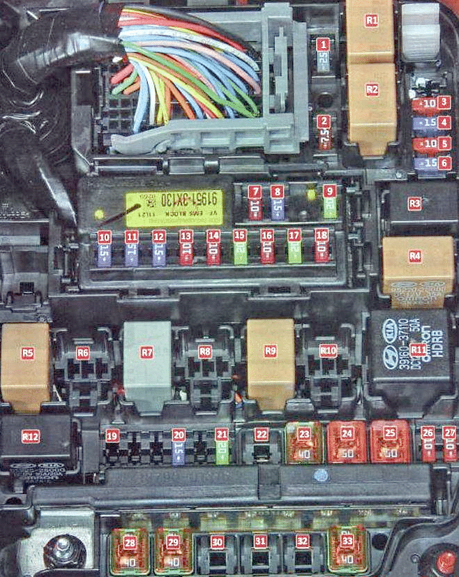 Фото схема блока под капотом вариант 2