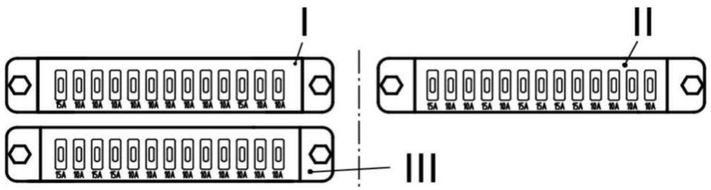 Схема блока предохранителей ПАЗ 32053
