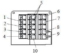 Схема блока реле за панелью