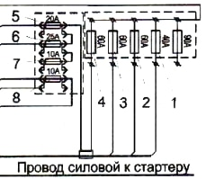 Схема силового блока ПАЗ