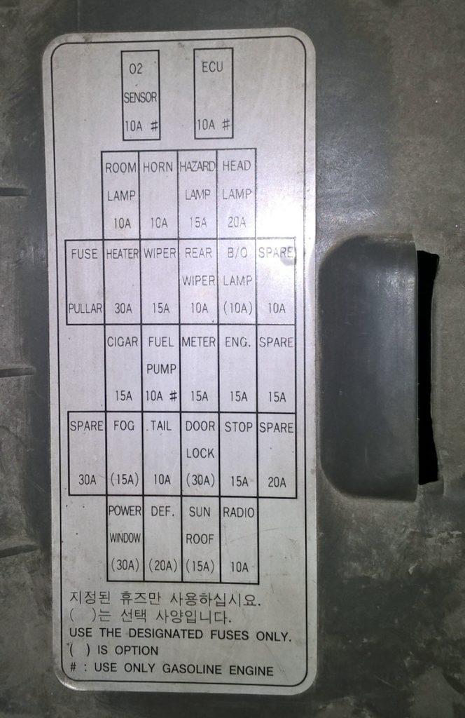 Фотография схемы блока в салоне 1