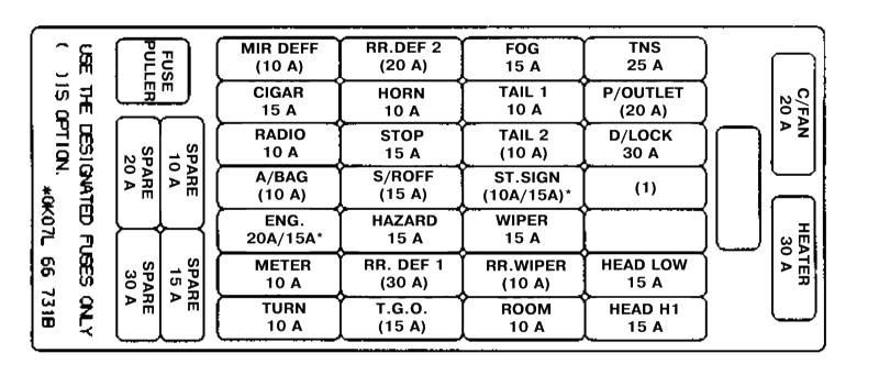 Пример схемы с крышки блока
