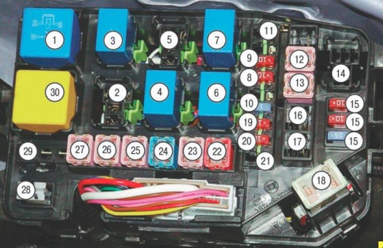 Схема блока под капотом 1