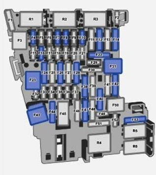 Схема блока в салоне Тигуан 2