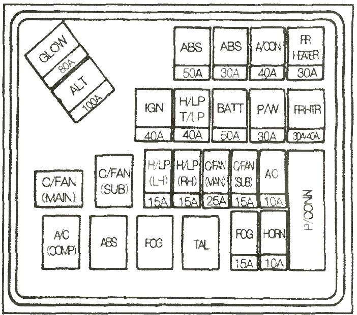 Схема 1 блок под капотом