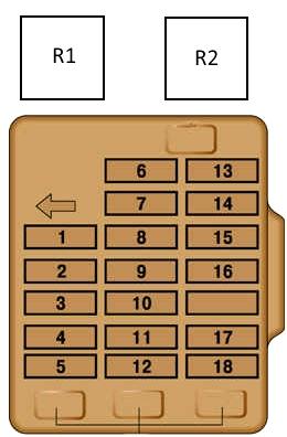 Схема блока предохранителей паджеро 2