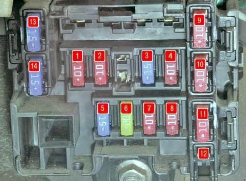 Схема блока предохранителей паджеро спорт 1