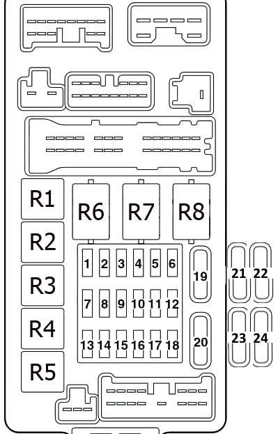 Схема блока в салоне аутлендер 1