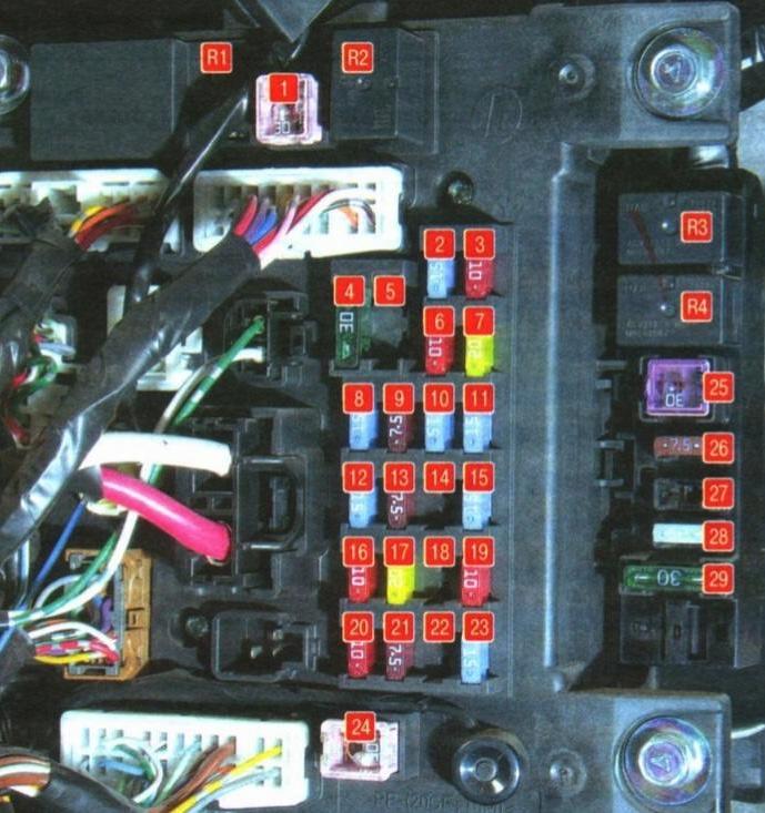 Схема блока в салоне аутлендер хл 1